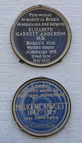 Blue Plaque Elizabeth Garrett Anderson